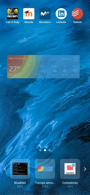 Imagen - Cómo poner el widget del tiempo