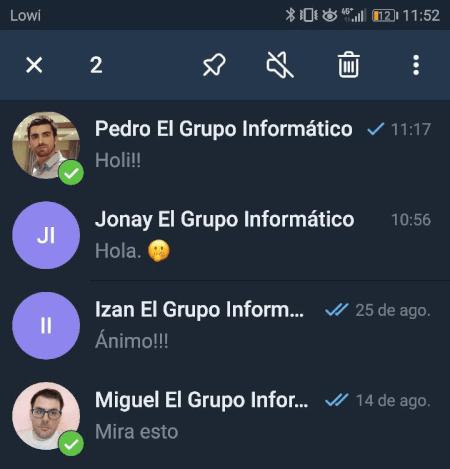 Imagen - Cómo archivar y desarchivar un chat en Telegram