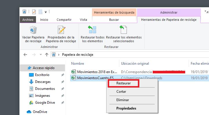 Imagen - Cómo recuperar un archivo de Excel eliminado