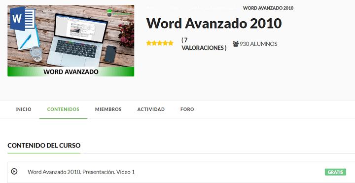 Imagen - 10 cursos gratis de Microsoft Word
