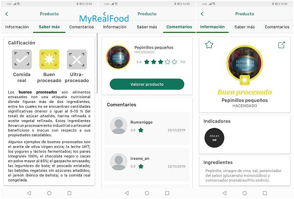 Imagen - Comparativa: MyRealFood vs Yuka