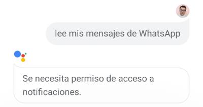 Imagen - Cómo enviar un mensaje de WhatsApp usando Google Assistant