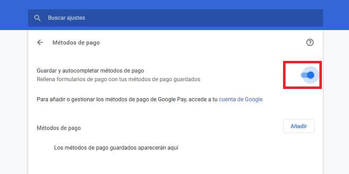 Imagen - Cómo añadir tarjetas de crédito/débito a Chrome