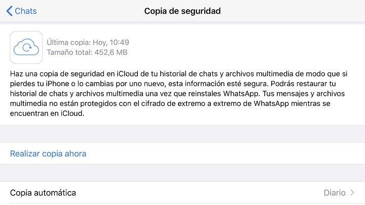 Imagen - Hacer copia de seguridad de los mensajes de WhatsApp