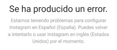 """Imagen - """"Se ha producido un error"""" en Instagram: solución"""