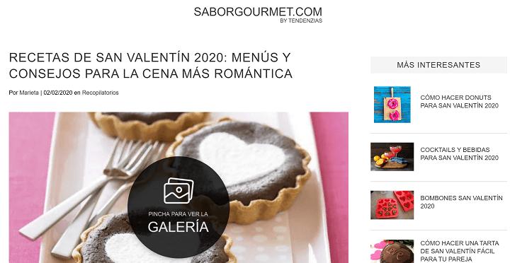Imagen - 10 webs con recetas de cocina para la cena de San Valentín