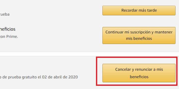 Imagen - Cómo evitar la renovación de Amazon Prime
