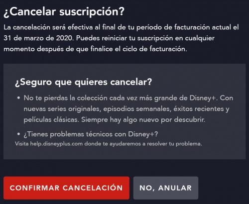 Imagen - Cómo darse de baja de Disney+ España
