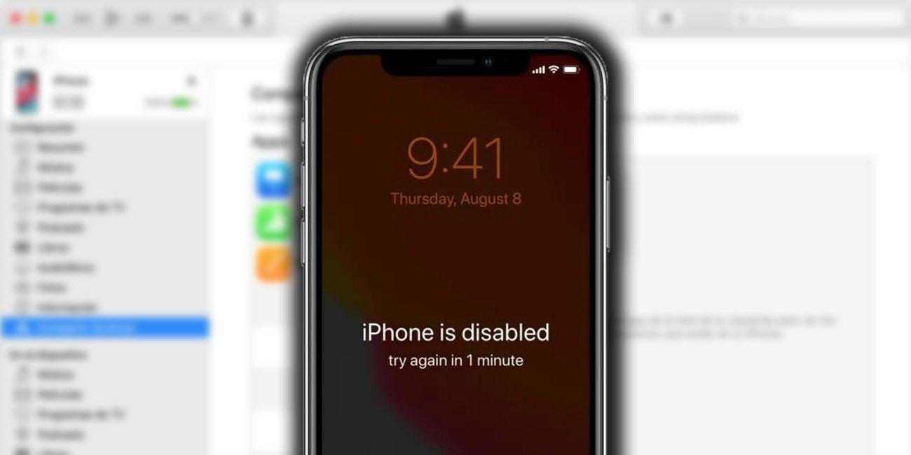 Qué hacer si tu iPhone está desactivado y pide conectarse a iTunes