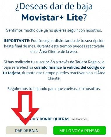 Imagen - Cómo dar de baja Movistar+ Lite