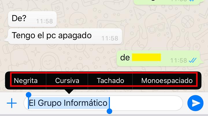 Imagen - Cómo cambiar la letra en WhatsApp