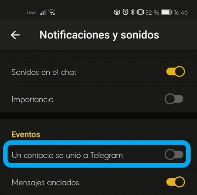 """Imagen - """"Un contacto se unió a Telegram"""": cómo eliminar"""