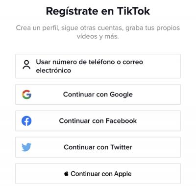 Imagen - Cómo registrar una cuenta en TikTok