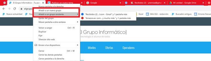 Imagen - Cómo activar la agrupación de pestañas de Chrome