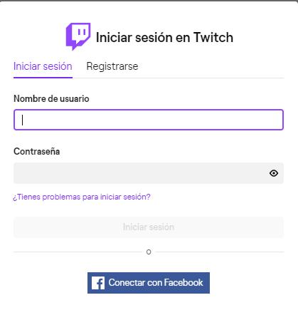 Imagen - Twitch: cómo iniciar sesión