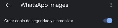 Imagen - Cómo activar la copia de WhatsApp en Google Fotos