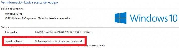 Imagen - Cómo saber de cuantos bits es mi Windows