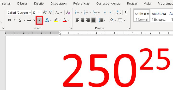 Imagen - Cómo escribir al cuadrado en Word
