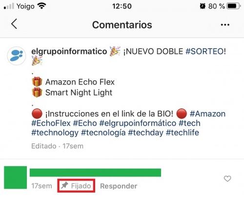 Imagen - Cómo fijar un comentario en Instagram
