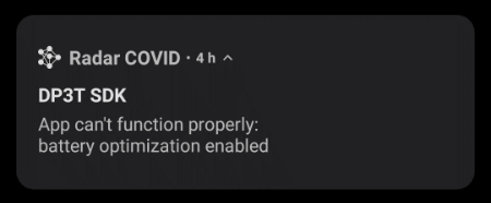 "Imagen - Solución a Radar Covid: ""App can't function properly"""