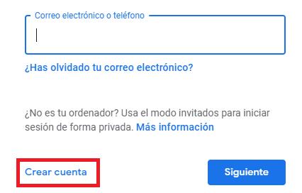 Imagen - Cómo crear una cuenta en Gmail