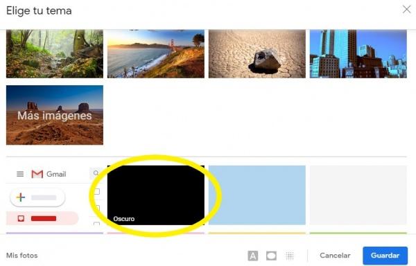 Imagen - Gmail: cómo activar el modo oscuro