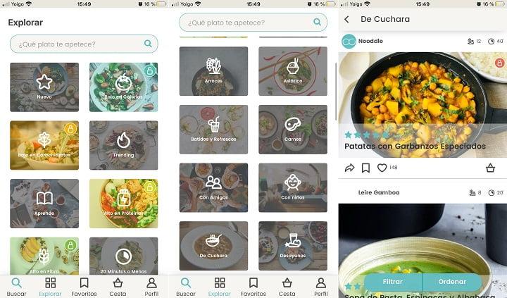 Imagen - Nooddle, la app que te dice qué cocinar
