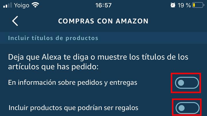 Imagen - Haz que Alexa no diga lo que contienen los pedidos