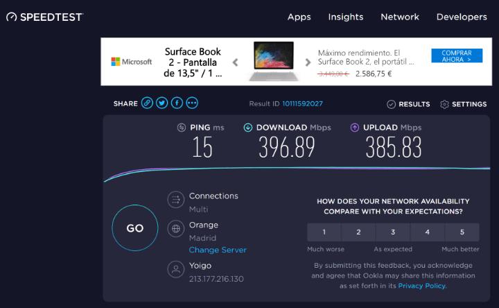 Imagen - Tests de velocidad de la conexión