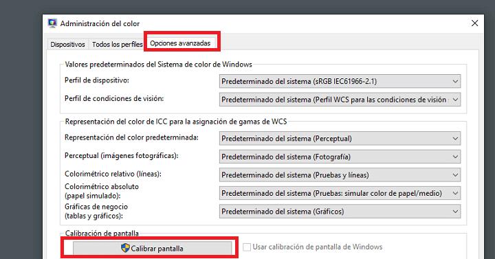 Imagen - Cómo calibrar el monitor en Windows 10