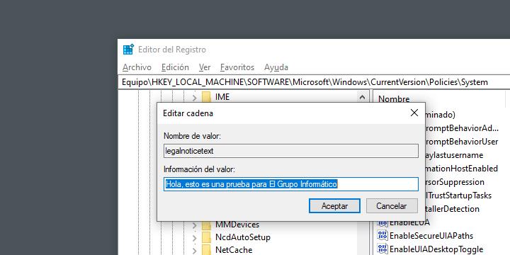 Imagen - Cómo mostrar un mensaje en el inicio de Windows 10