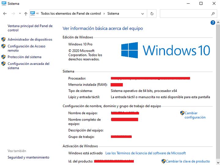 """Imagen - Cómo abrir """"Sistema"""" en Windows 10"""