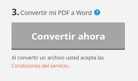 Imagen - Convertir archivo PDF a Word