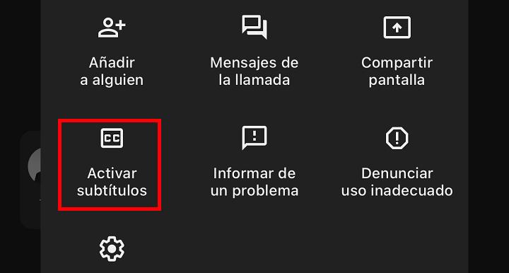 Imagen - Cómo activar los subtítulos en Google Meet