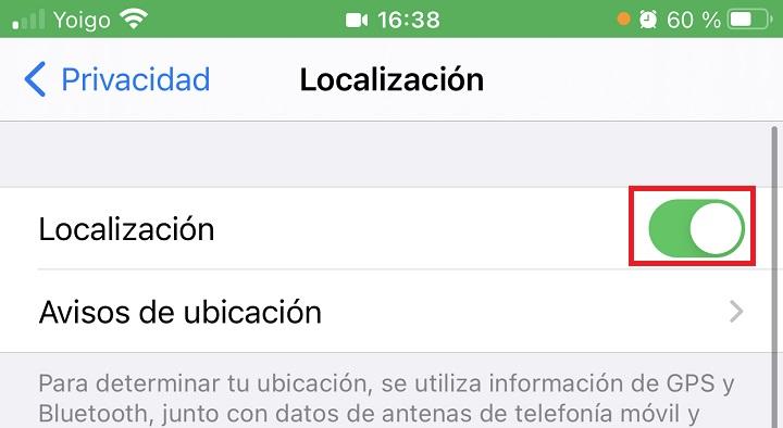 Imagen - Cómo desactivar la localización en iPhone