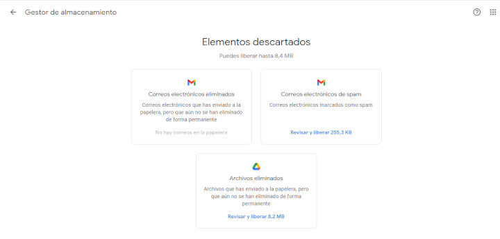 Imagen - Cómo liberar espacio en Gmail, Google Fotos y Google Drive