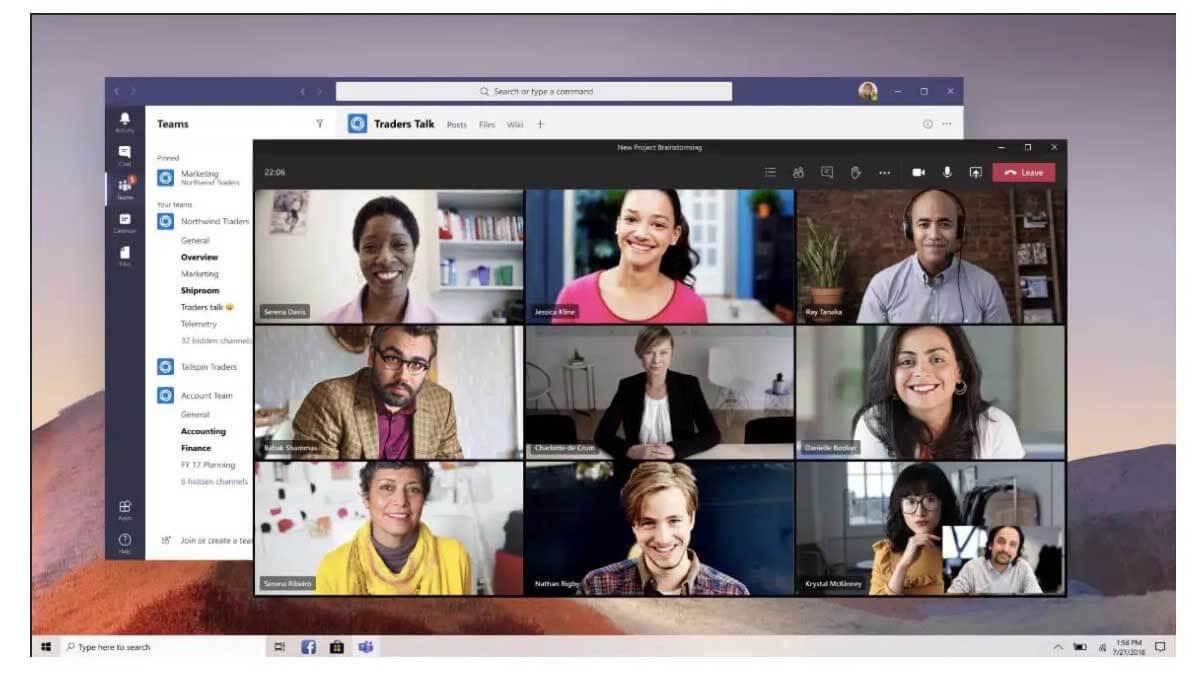 Cómo ver todas las caras en una videollamada de Microsoft Teams