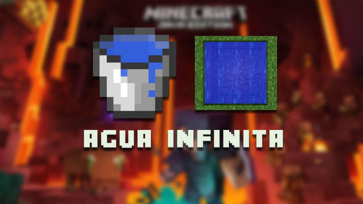 Cómo crear agua infinita en Minecraft
