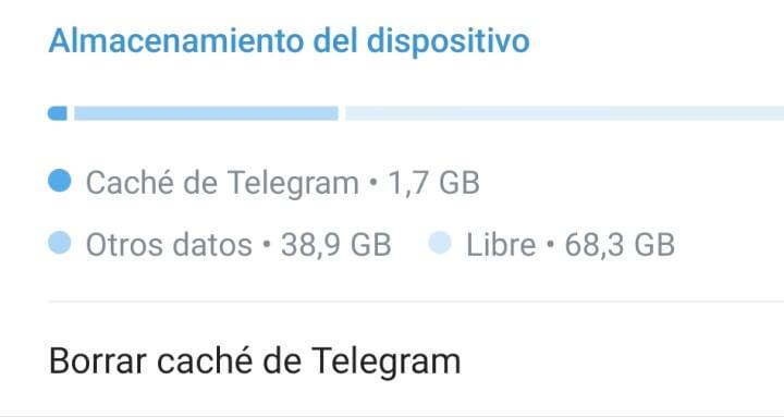 Imagen - Cómo borrar la caché de Telegram