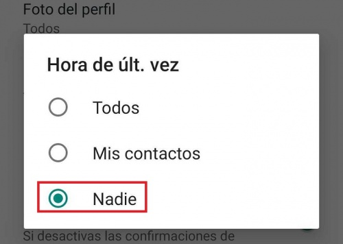 Imagen - Ocultar estado de WhatsApp en Android