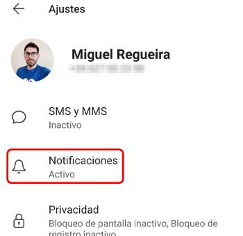 Imagen - Desactivar las notificaciones de nuevo contacto en Signal