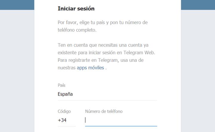 Imagen - Cómo entrar en Telegram Web