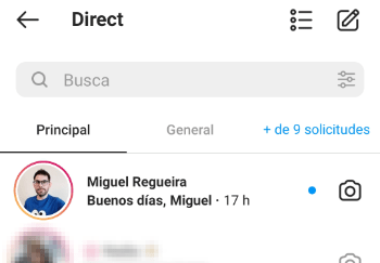 Imagen - Cómo responder mensajes en Instagram