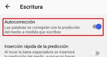 Imagen - Cómo activar o desactivar el corrector ortográfico de Android