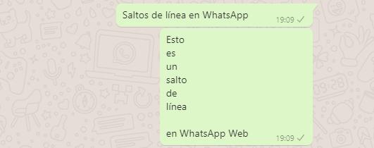 Imagen - Cómo hacer un salto de línea en WhatsApp Web