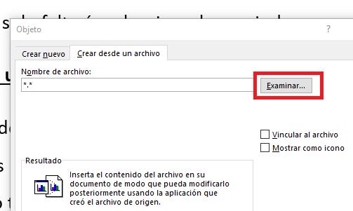 Imagen - Cómo insertar un PDF en un Word