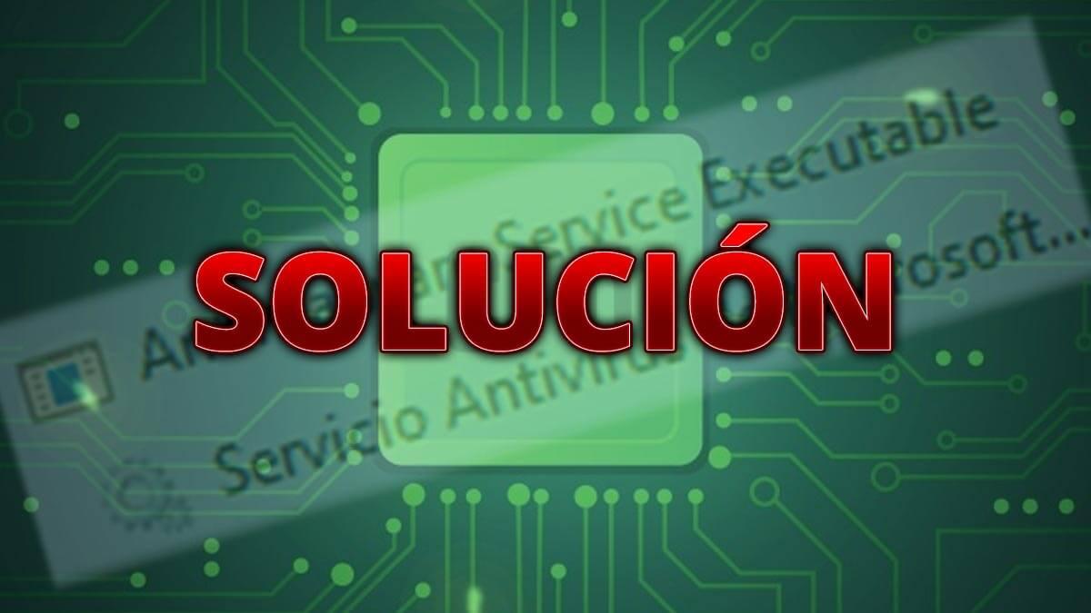 Antimalware Service Executable usa 100% de CPU: solución