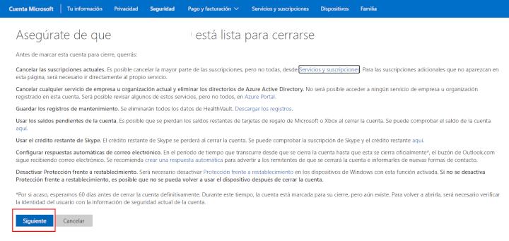 Imagen - Cómo eliminar una cuenta de Hotmail
