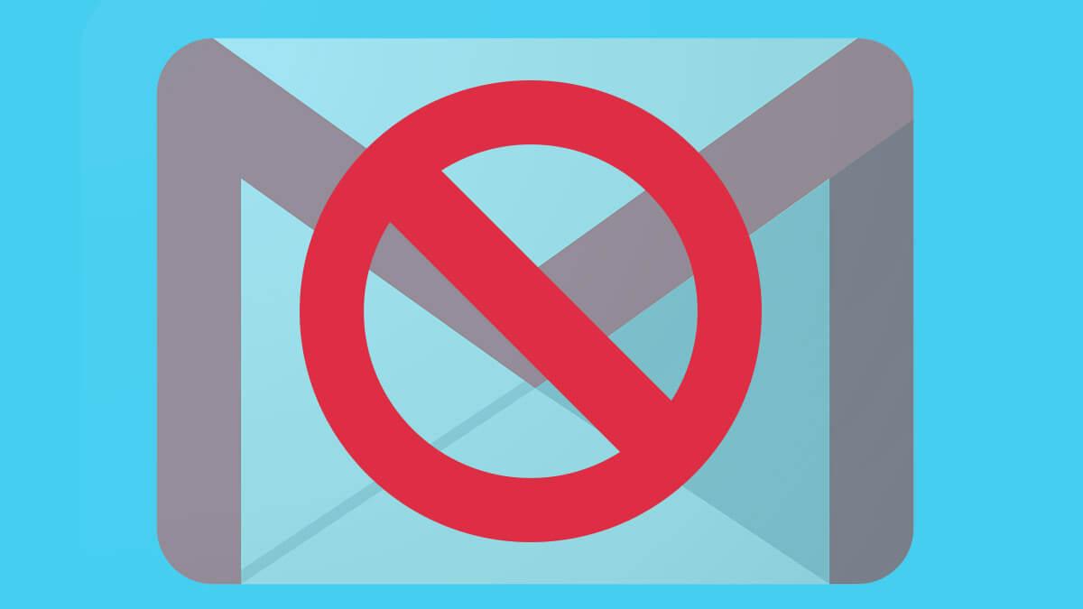 Cómo dejar de recibir spam en Gmail