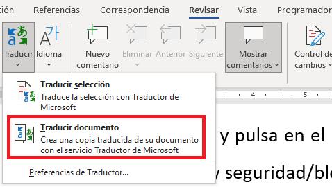 Imagen - Cómo traducir con Word